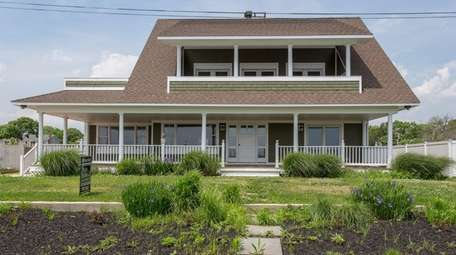This bayfront house in Center Moriches has a