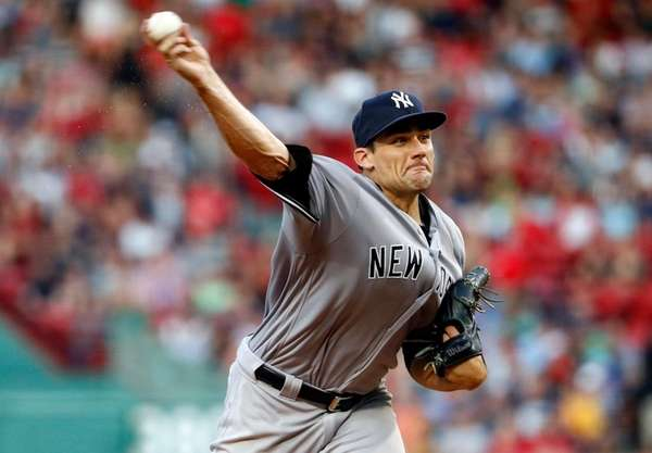 Yankees' Nathan Eovaldi delivers a pitch against the