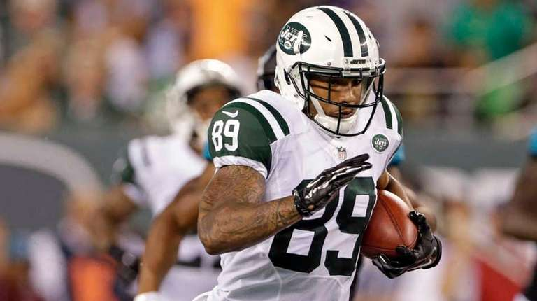 New York Jets wide receiver Jalin Marshall (89)