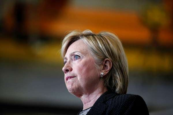 Democratic presidential nominee Hillary Clinton delivers a speech