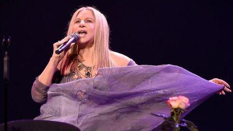 Barbra Streisand performs during