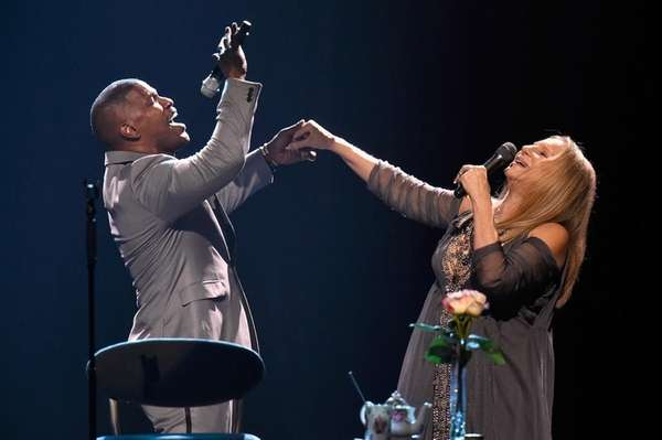 Barbra Streisand performs during