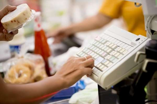 Supermarket register.