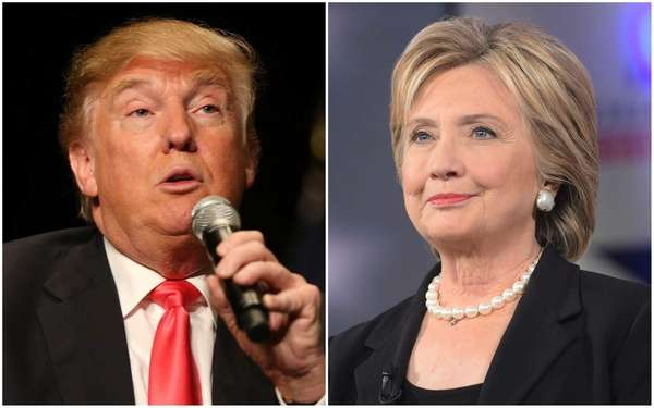 Although Hillary Clinton still leads Donald Trump by