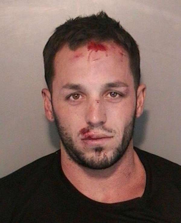 Tyler Rock, 28, of Copiague, was arrested Friday,