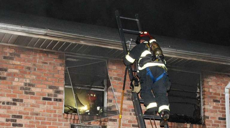Firefighters responded to an apartment house blaze on
