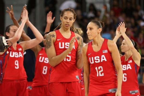 Brittney Griner, left, and Diana Taurasi are all