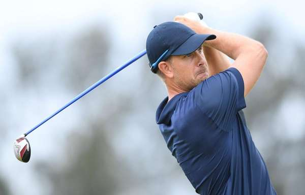 Sweden's Henrik Stenson competes in the men's individual