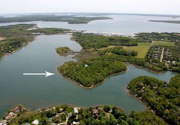 This island in Southold, with more than a