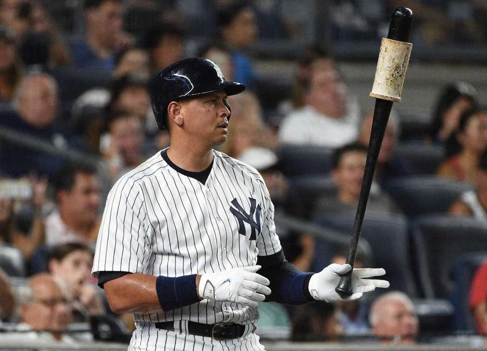 New York Yankees designated hitter Alex Rodriguez waits