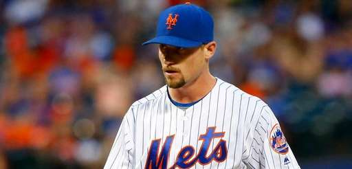 Logan Verrett #35 of the New York Mets