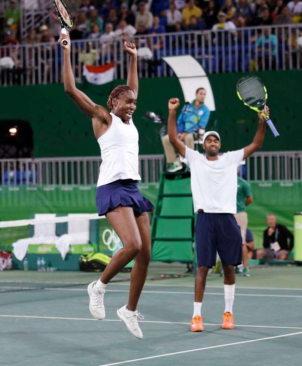 Venus Williams, left, and her partner Rajeev Ram,