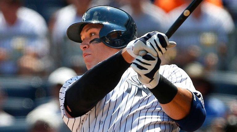 Aaron Judge of the New York Yankees hits