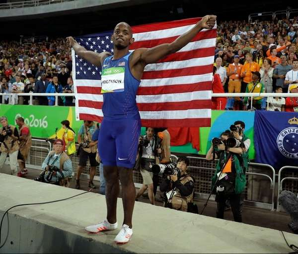 United States' Jeff Henderson celebrates with the U.S.