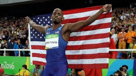 United States' Jeff Henderson celebrates with the U.S.