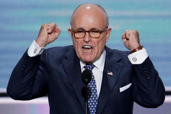Former New York Mayor Rudy Giuliani speaks during