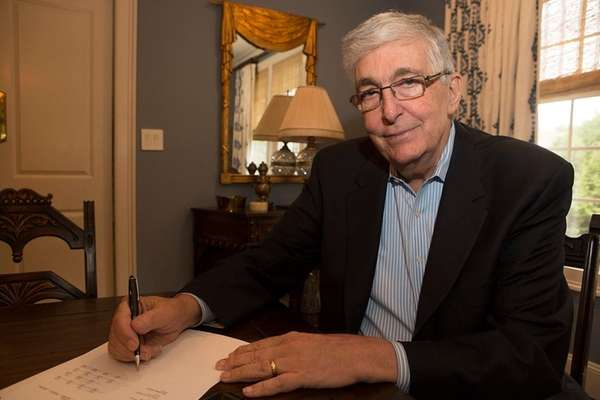 Howard Weitzman speaks with Newsday at his home