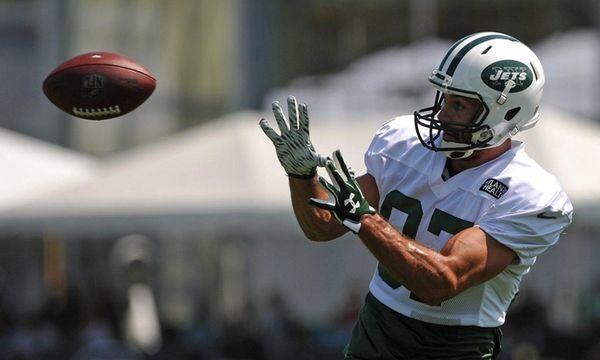 Eric Decker #87, New York Jets wide receiver,