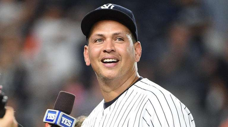 Alex Rodriguez is interviewed after his final game