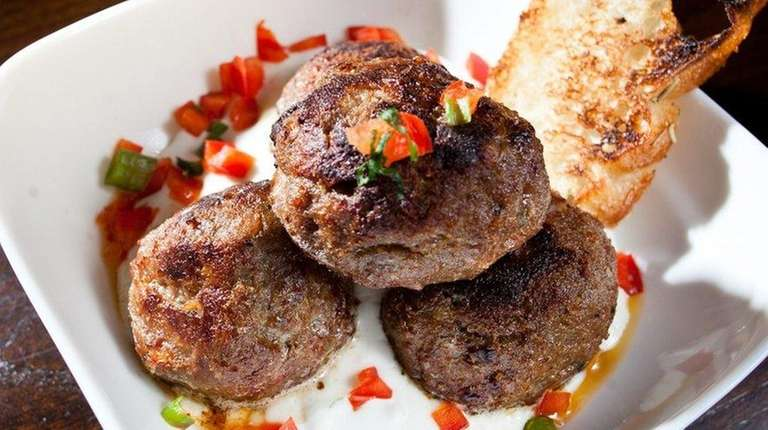 That Meetball Place serves Moroccan lamb meatballs in
