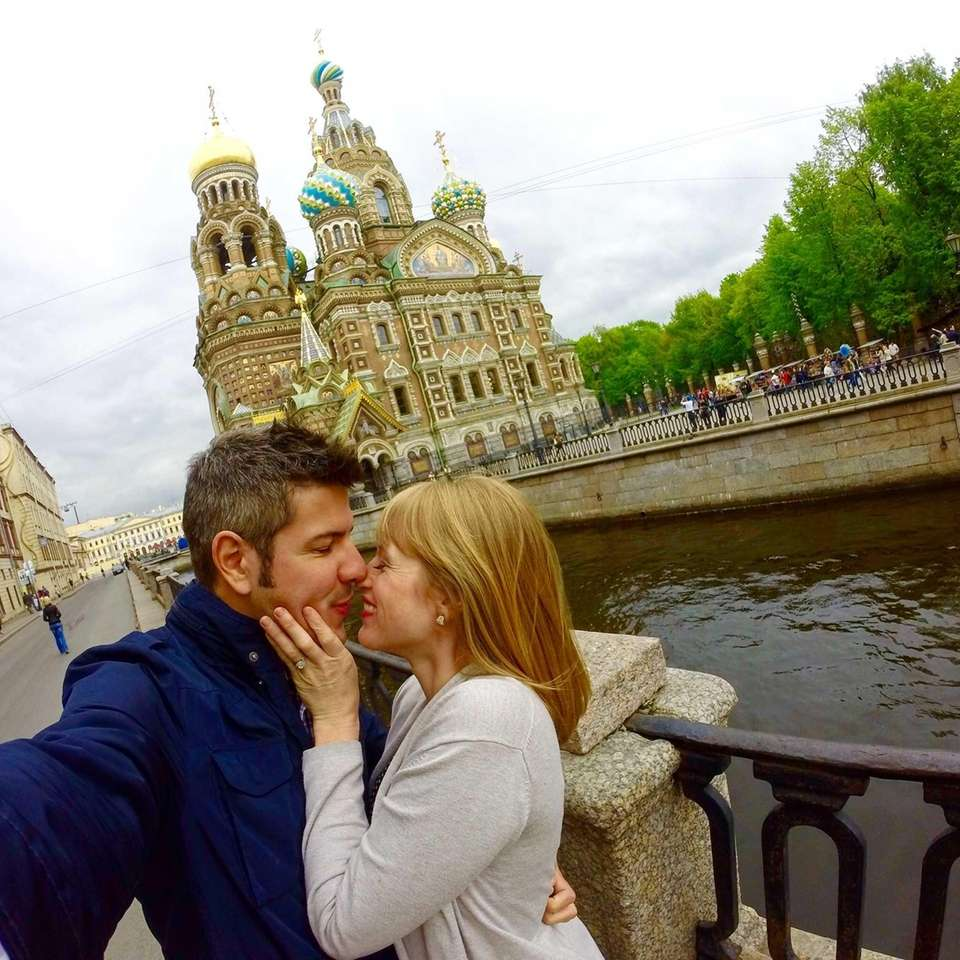 A kiss in front of the Church of