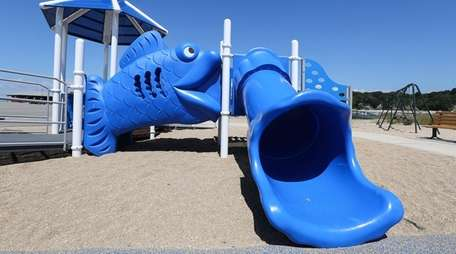 A new playground, replacing one that was damaged