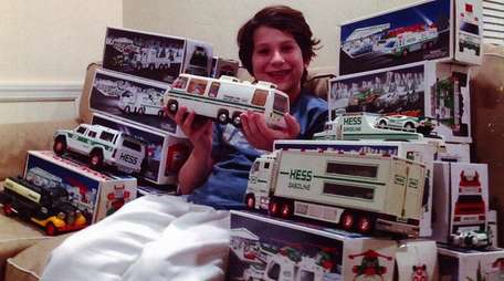 Kidsday reporter Liam Murray with his Hess toy