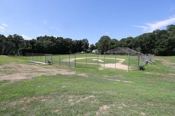 A baseball field at Depot Park in Huntington