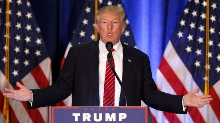 Republican Presidential candidate Donald Trump speaks in Youngstown,