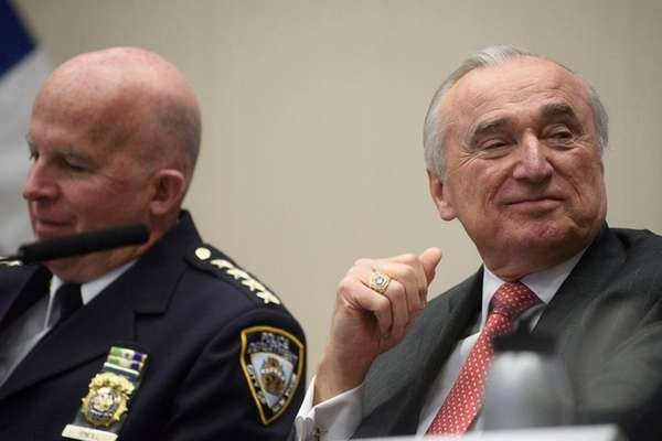 NYPD Chief of Department James O'Neill, left, and