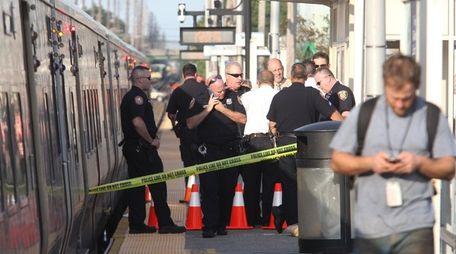 Police investigate after a pedestrian was struck by