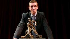 Jimmy Vesey of Harvard University and Hobey Baker