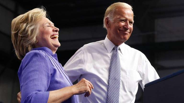Hillary Clinton joins Vice President Joe Biden at
