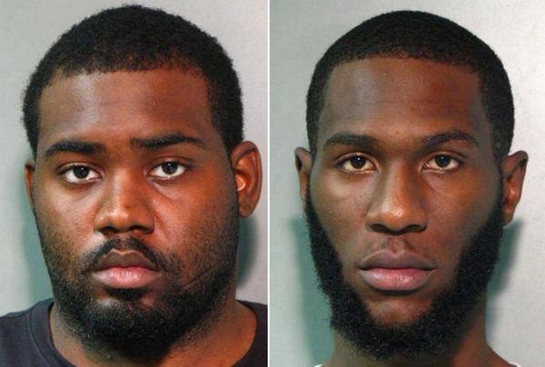 Cedric Metullus, 20, left, and Alan Ado Germain,