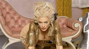 Madonna looking like a rogue Marie Antoinette in