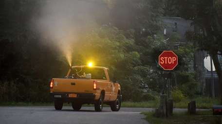 Suffolk County public works ground sprays for mosquitoes
