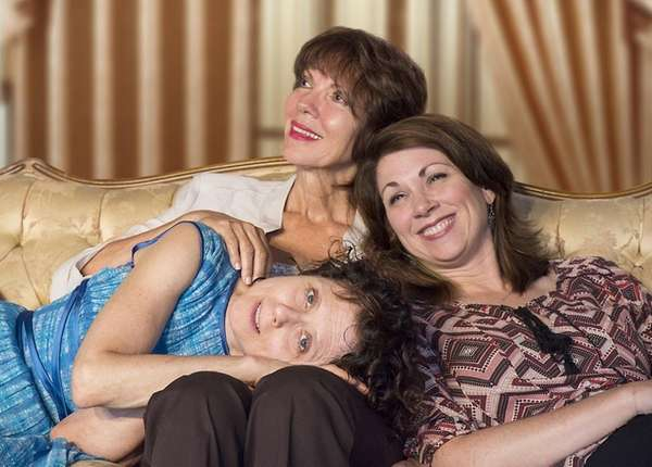 Susan Stein, lying down at left, Jacqueline Misholy