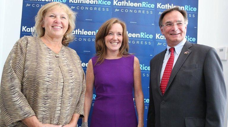 Republicans Denise Ford, left, a Nassau County legislator,