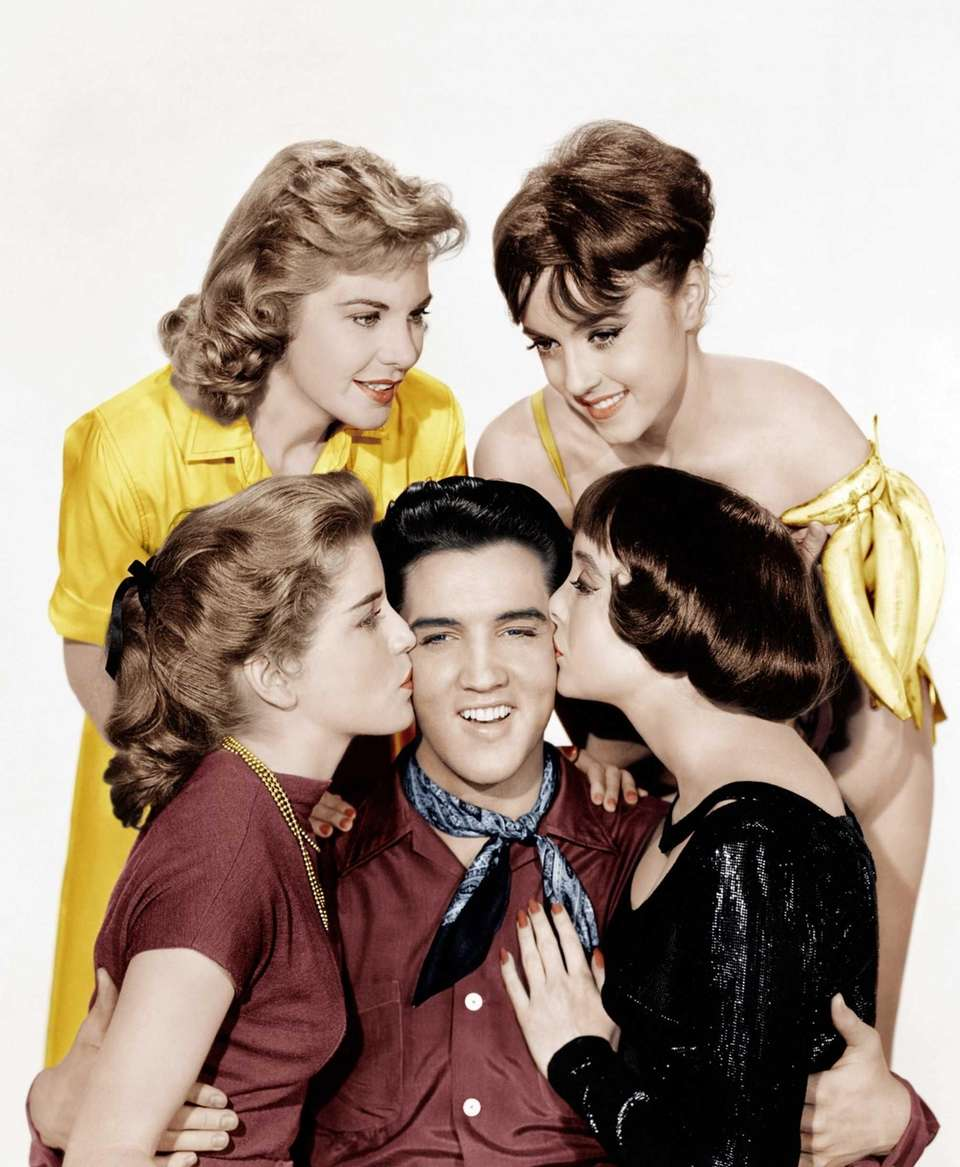 Elvis Presley with Dolores Hart, Jan Shepard, Liliane