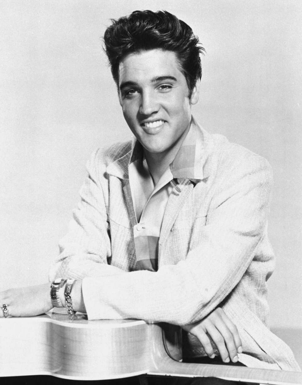 Elvis Presley in 1957, when he made two