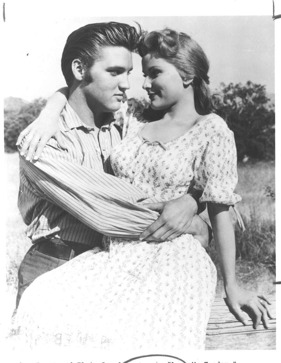 Elvis Presley and actress Debra Paget, his first
