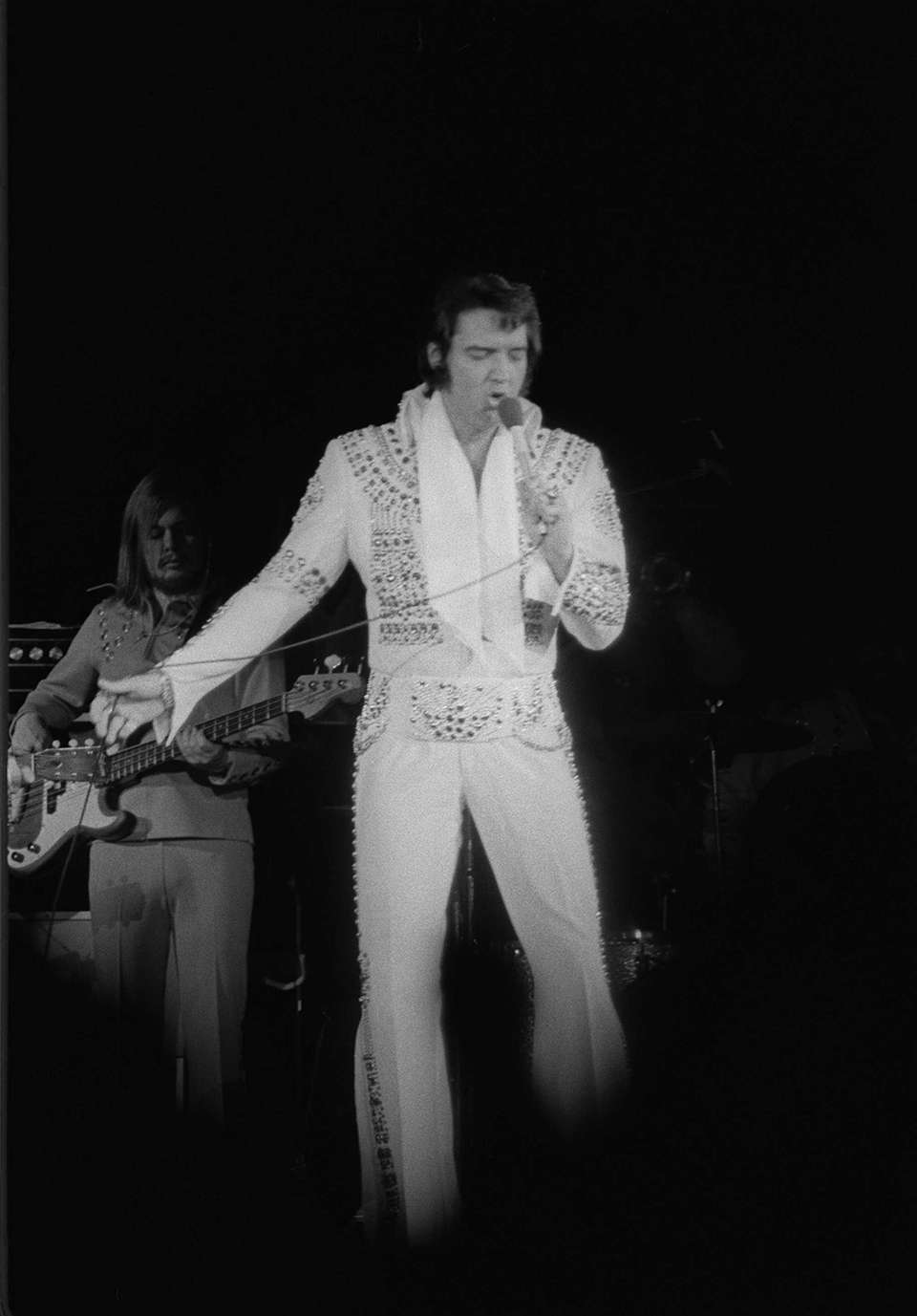 Elvis Presley performs at Nassau Coliseum on June