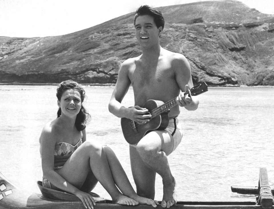 Elvis and actress Joan Blackman in