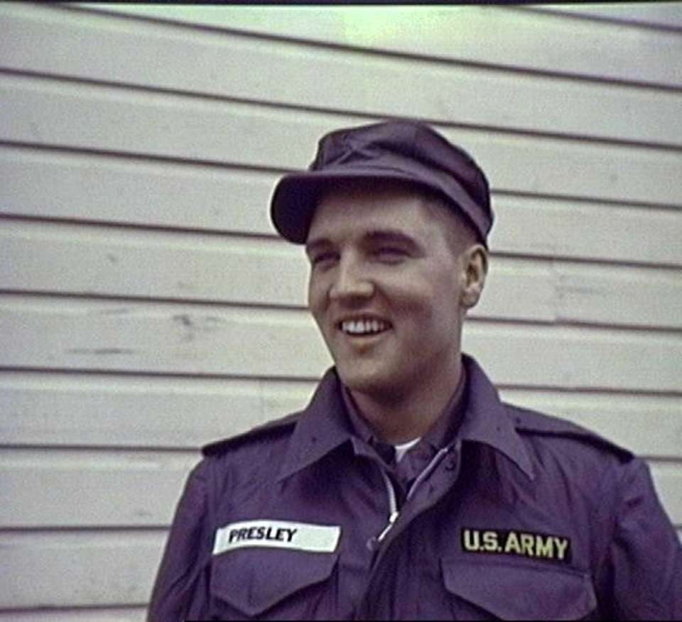 Elvis Presley in 1958, his Army year.