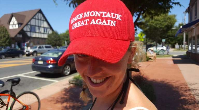 Sinead Daly wears a hat with the slogan
