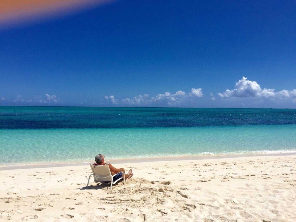 Worlds most beautiful beach, enjoying a fine Cuban