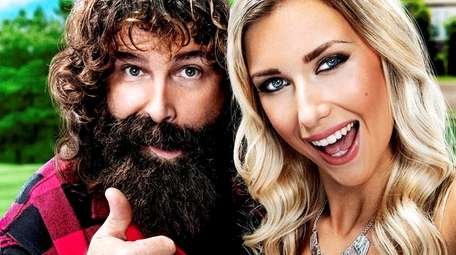 Former pro wrestler Mick Foley and his daughter,