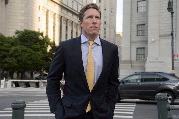 Sean Stewart leaves a federal courthouse in Manhattan