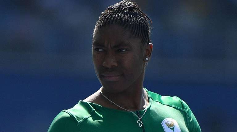 South Africa's Caster Semenya prepares to compete in
