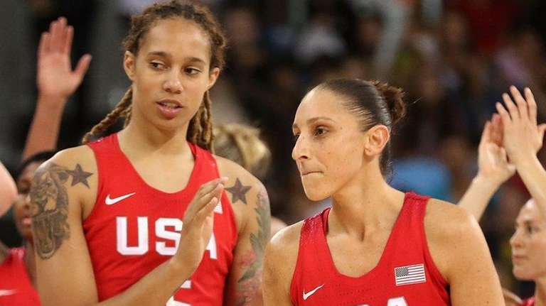 Brittney Griner and Diana Taurasi  of United States
